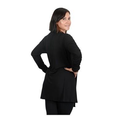 Eco Bebek - Eco Bebek - Selene Kolsuz Hamile ve Emzirme Bluzu (Tunik) Siyah - L