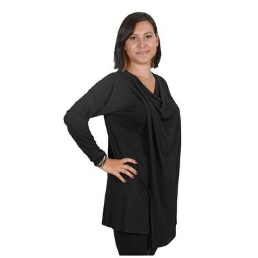 Eco Bebek - Eco Bebek - Selene Kolsuz Hamile ve Emzirme Bluzu (Tunik) Siyah - L (1)